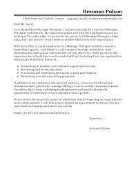 Cover Letter Example Massage Therapy Cover Letter Example