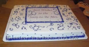 Easy Bridal Shower Cake