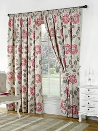 poppies ready made lined curtains
