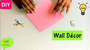 diy projects easy wall decor idea with paper paper craft ideas for room decoration diy wall decor s19creations diyall net home of diy craft