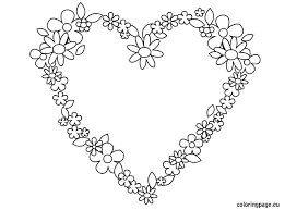 Small Picture Free Coloring Pages Hearts And Flowers Dzrleathercom