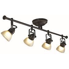 Oil Rubbed Bronze Kitchen Light Fixtures Oil Rubbed Bronze 4 Light Track Lighting Wall Ceiling Mount