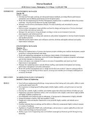 Resume For Engineering Engineering Manager Resume Samples Velvet Jobs