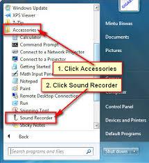 Record Desktop Windows 7 How To Record Audio On Windows 7 Sound Recorder