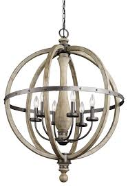 farmhouse pendant lighting. kichler 6light pendant distressed antique gray wood farmhousependant lighting farmhouse