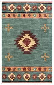 southwest soft wool area rug 12 x 15 grey blue brown red tan tribal southwestern