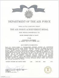 air force achievement medal