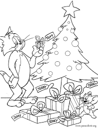 Small Picture Tom And Jerry Tom And Jerry Christmas Gifts Coloring Page