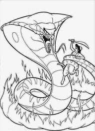 Small Picture aladdin vs snake snake coloring pages