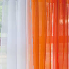 Orange Bedroom Curtains Orange Gradient Panel Set Ombre Gray And Sheer Curtains