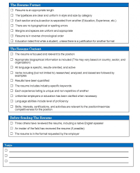 Resume Checklist Resume Checklist Department Of Economics 9
