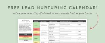 A Guide To Nurturing Leads Into Clients Free Calendar