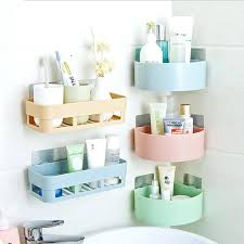 stick on wall shelves new creative kitchen storage box wall stick sundries rack bathroom accessories holder stick on wall shelves