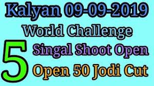 11 09 2019 Kalyan Matka Free Bholenath Chart Kala Khajana