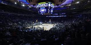 Madison Square Garden Section 104 New York Knicks