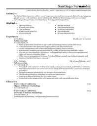 Part-time Sales Associate resume example