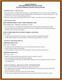 5 Curriculum Vitae Examples For Students Theorynpractice