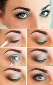 pretty green eye makeup with step by instructions this is really nice not