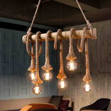 industrial home lighting.  home retro loft vintage industrial bamboo rope multi light pendant lamp for  kitchen dinning room home bar to lighting a