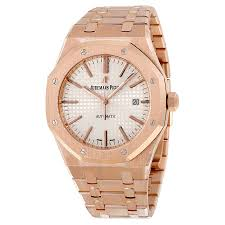 audemars piguet royal oak automatic silver dial 18kt rose gold audemars piguet royal oak automatic silver dial 18kt rose gold men s watch 15400oroo1220or02