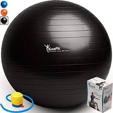 Luxfit Exercise Ball Premium Extra Thick Yoga Ball 2 Year