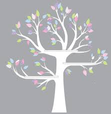 shelf tree decal reading unique tree vinyl wall decal