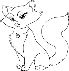 Cute Cats Coloring Pages Cat And Dog Funny Gallery To Print Cute