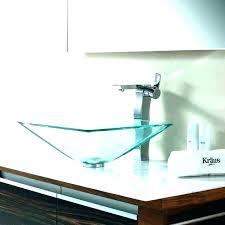 kohler glass sink bowls bowl sink bathroom vessel faucets 8 purist wading double sinks square parts kohler glass sink