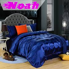 summer style green bluesky royal blue bedding set king queen size 4pcs silk bed sheets linen duvet cover pillow case bed set in bedding sets from home