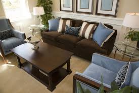 living room examples with brown couches