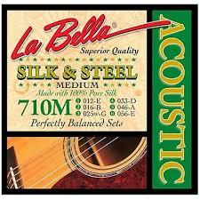 La Bella String Tension Chart La Bella 700m Silver Plated Acoustic Guitar Strings Medium