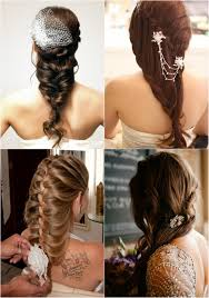 braid ponytail for wedding 2017 autumn with long straight human hair extension clip in