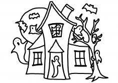 Small Picture Printable Haunted House Coloring Pages Coloring Page for Kids