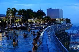 Marina Bay Sands Infinity Pool Singapore Panorama Of The Infinity