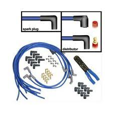 summit racing car and truck ignition wire summit racing spark plug wires 8mm blue 90 degree boots universal v8 set