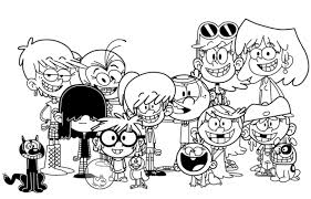 Best Loud House Coloring Page For Little Kids The Loud House