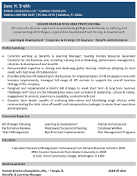 Human Resources Cv Format Human Resources Resume Sample And Template