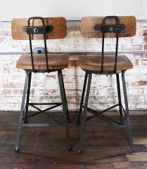 wood metal bar stools. Perfect Industrial Counter Stools Plus Good Metal Bar With Backs Additional Height Apply To Your Interior Wood