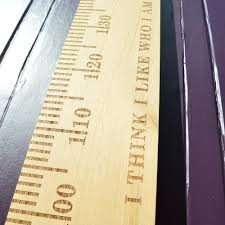 Wooden Height Chart Slimjim Personalised Wooden Ruler Height Chart Oak