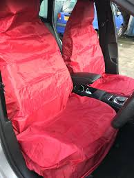 heavy duty red waterproof car seat covers for vw golf mk5 mk6 gti 2 x 1 of 6only 4 available