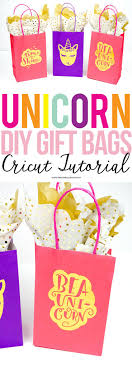 I love these adorable DIY Gift Bags with Unicorn Graphics. They're the  easiest
