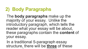 paragraph essay structure brought to you by powerpointpros com  the body paragraphs make up the majority of your essay