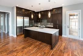 light hardwood floors with dark cabinets. Dark Kitchen Cabinets With Light Oak Trim Hardwood Floors O
