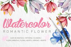 This 100% unique, handpainted watercolor wreath especially for you. Free Illustrations Download Romantic Flowers Free Design Resources