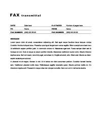 Fax Transmittal Template 29 Free Printable Fax Cover Sheet Templates
