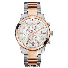 new guess watch for men silver dial two tone bracelet guess watch for men u0075g2