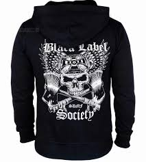 Cheap Designer Hoodies 6 Designs Zipper Hoodies Black Label Society Cotton Rocker Shell Jacket Hardrock Sweatshirt Fleece Sudadera Skull Guitar Hero