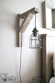 bedroom sconce lighting. Build This DIY Rustic Corbel Light Sconce For $25! Creative Bedroom Lamp But Perfect Lighting