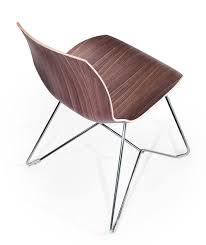 Sedia moderna con scocca in legno e struttura in metallo idfdesign