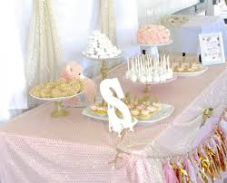 Pink, gold, and white baby shower - Food, games, and decoration ideas